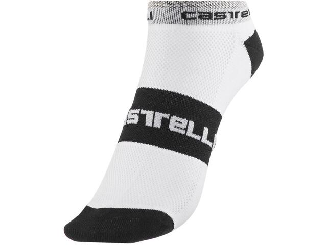 Castelli Lowboy Chaussettes, white/black